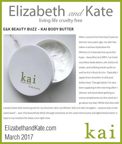 kai fragrance featured in elizabethandkate.com march 2017