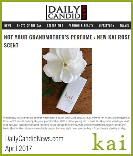 kai fragrance featured in dailycandidnews.com april 2017