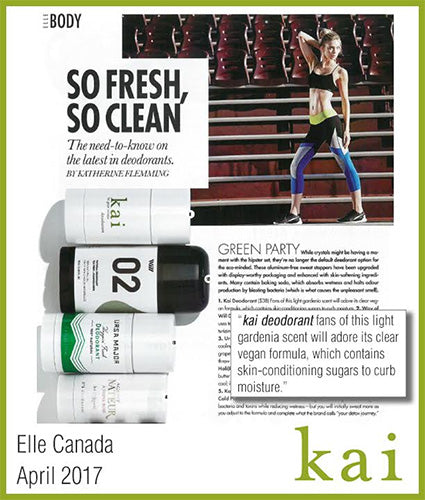 kai fragrance featured in elle canada april 2017