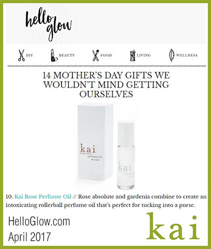 kai fragrance featured in helloglow.com april 2017