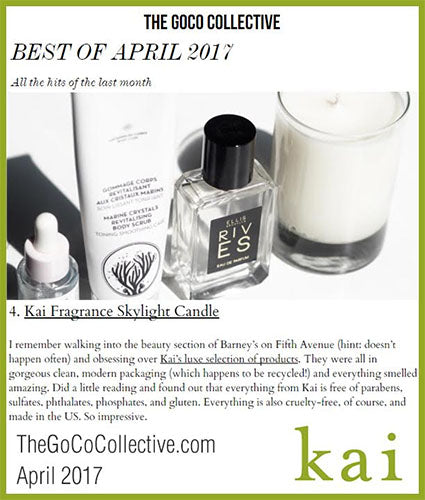 kai fragrance featured in thegococollective.com april 2017