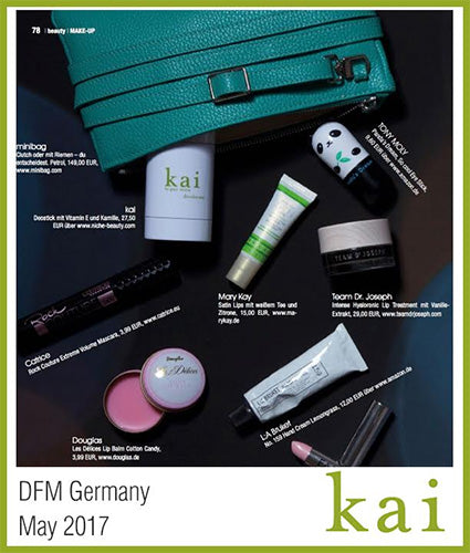 kai fragrance featured in dfm germany may 2017