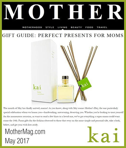 kai fragrance featured in mothermag.com may 2017