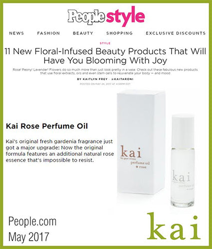 kai fragrance featured in people.com may 2017