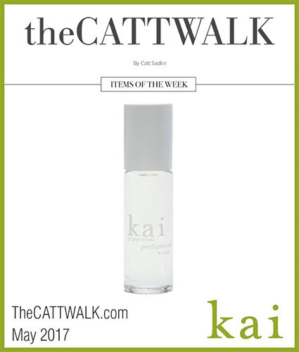 kai fragrance featured in thecattwalk.com may 2017