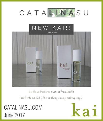 kai fragrance featured in catalinasu.com june 2017
