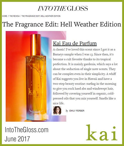 kai fragrance featured in intothegloss.com june 2017