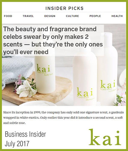 kai fragrance featured in business insider july 2017