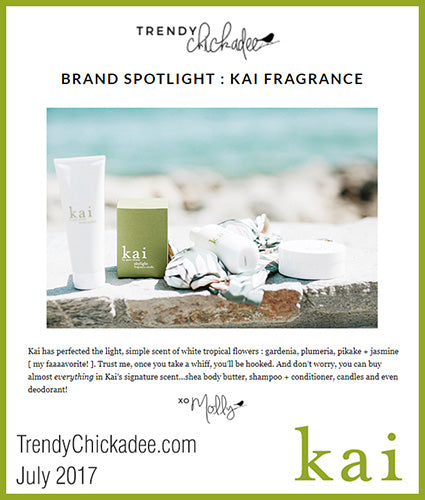 kai fragrance featured in trendychickadee.com july 2017
