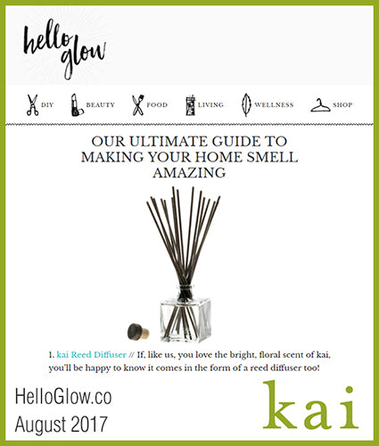 kai fragrance featured in helloglow.co august 2017