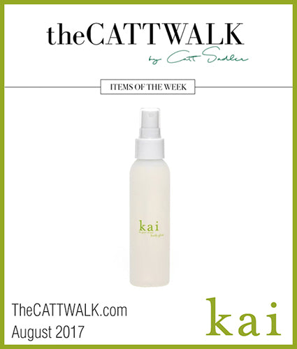 kai fragrance featured in thecatwalk.com august 2017