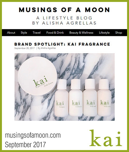 kai fragrance featured in musingsofamoon.com september 2017