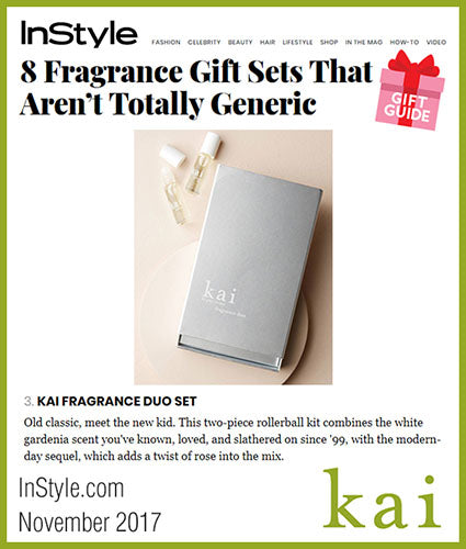 kai fragrance featured in instyle.com november 2017