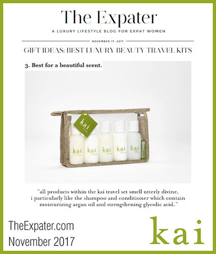 kai fragrance featured in theexpater.com november 2017