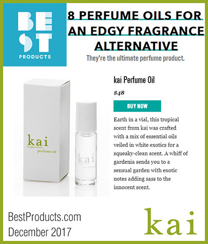 kai fragrance featured in bestproducts.com december 2017