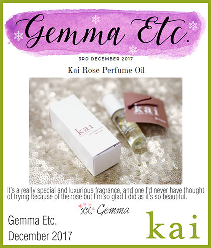kai fragrance featured in gemma etc december 2017