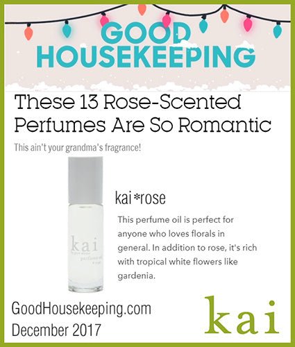 kai fragrance featured in goodhousekeeping.com december 2017