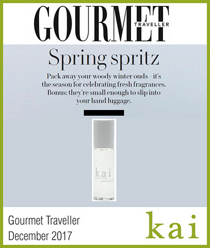 kai fragrance featured in gourmet traveler december 2017