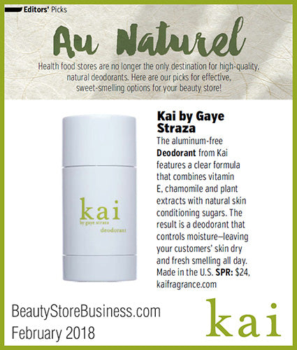 kai fragrance featured in beautystorebusiness.com february 2018