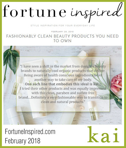 kai fragrance featured in fortuneinspired.com february 2018