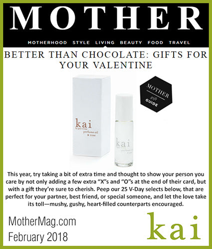 kai fragrance featured in mothermag.com february 2018