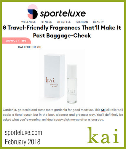 kai fragrance featured in sporteluxe.com february 2018