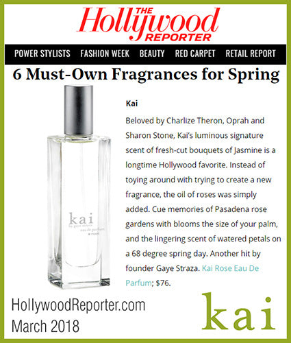 kai fragrance featured in hollywoodreporter.com march 2018