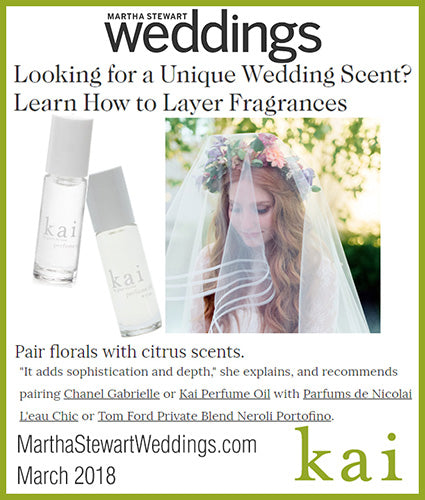 kai fragrance featured in marthastewartweddings.com march 2018