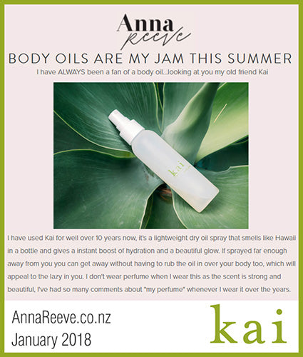 kai fragrance featured in annareeve.co.nz april 2018