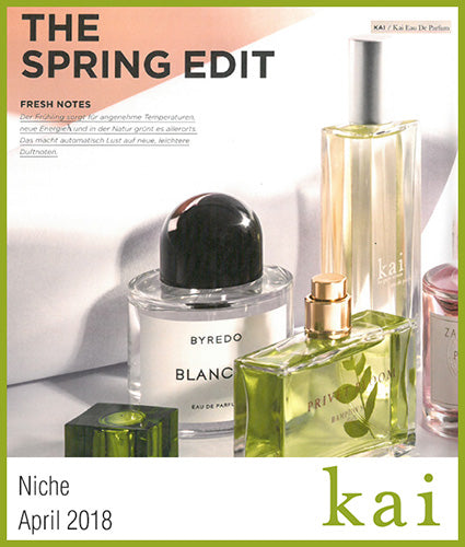 kai fragrance featured in niche april 2018