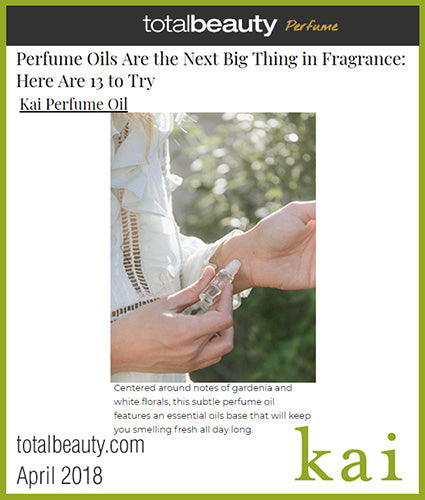 kai fragrance featured in totalbeauty.com april 2018