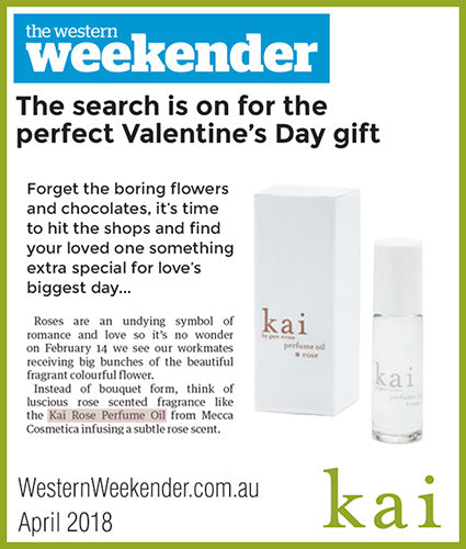 kai fragrance featured in westernweekender.com.au april 2018