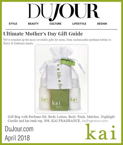 kai fragrance featured in dujour april 2018