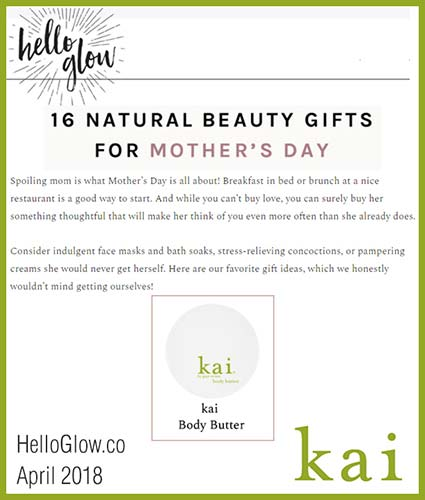 kai fragrance featured in hello glow april 2018