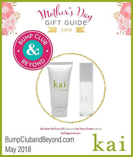 kai fragrance featured in bump club may 2018