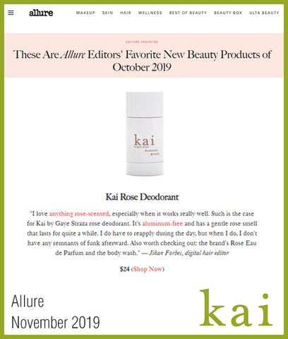 kai rose deodorant - allure editors favorite - october 2019