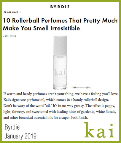 kai fragrance featured in byrdie