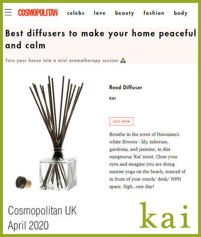 best diffuser to make your home peaceful - kai - cosmopolitan - april 2020