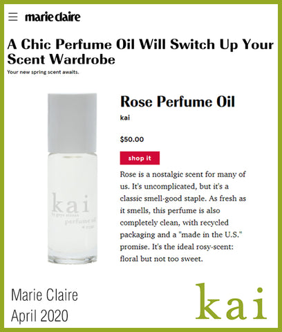 kai rose perfume oil - marie claire - april 2020