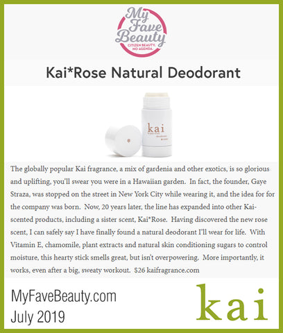 kai rose natural deodorant - my fave beauty - july 2019