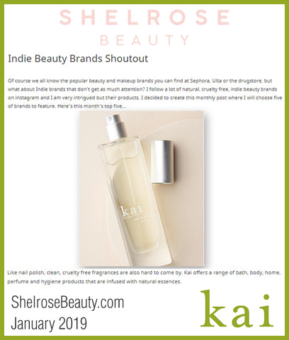 kai featured on shelrosebeauty.com