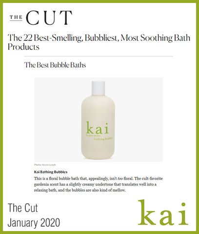best bubble bath - kai bathing bubbles - the cut - january 2020