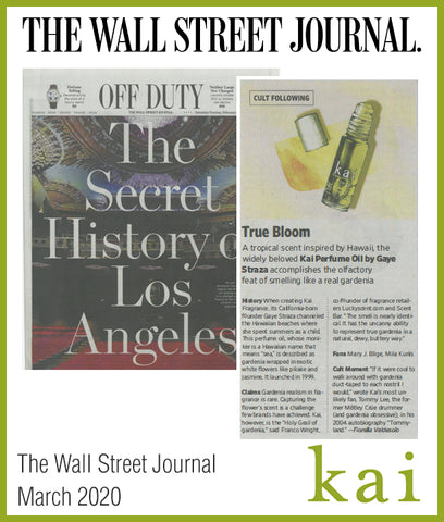 kai perfume oil - the wall street journal - march 2020