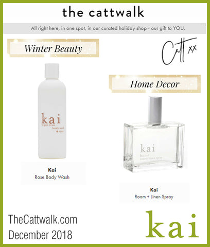 kai fragrance featured on thecattwalk.com