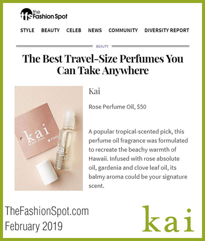 kai rose perfume oil best travel size - the fashion spot - february 2019
