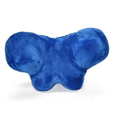 Original W-Shape Memory Foam Travel Pillow - Best Neck Travel Pillow in Blue