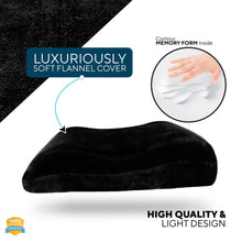 Load image into Gallery viewer, Memory Foam Throw Pillow as Sofa Decorative Faux Fur Flannel Couch Pillow in Black