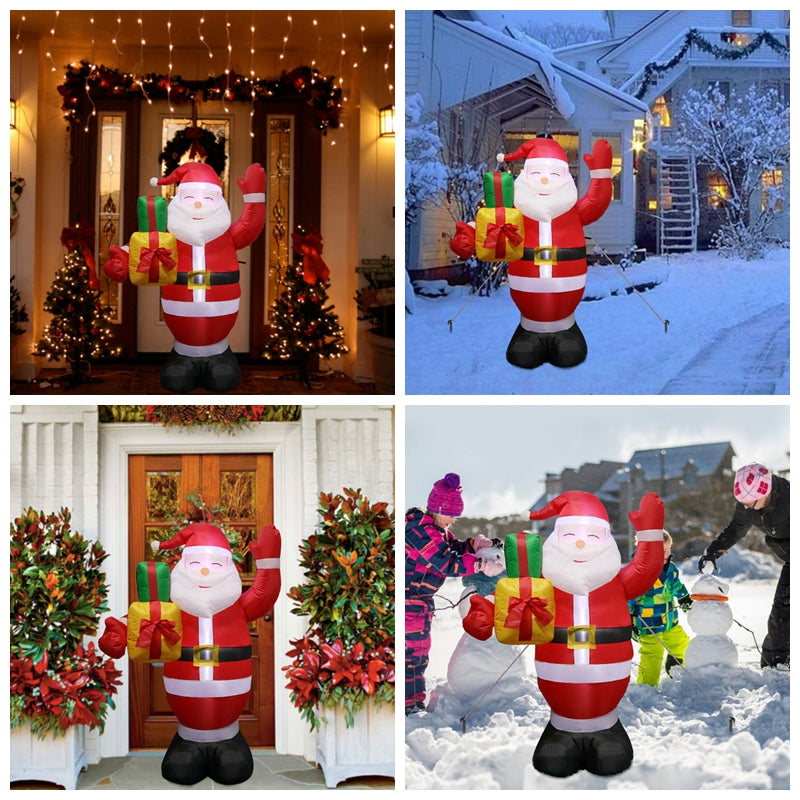Inflatable Christmas Decorations.Inflatable Santa Claus Outdoors Christmas Decorations