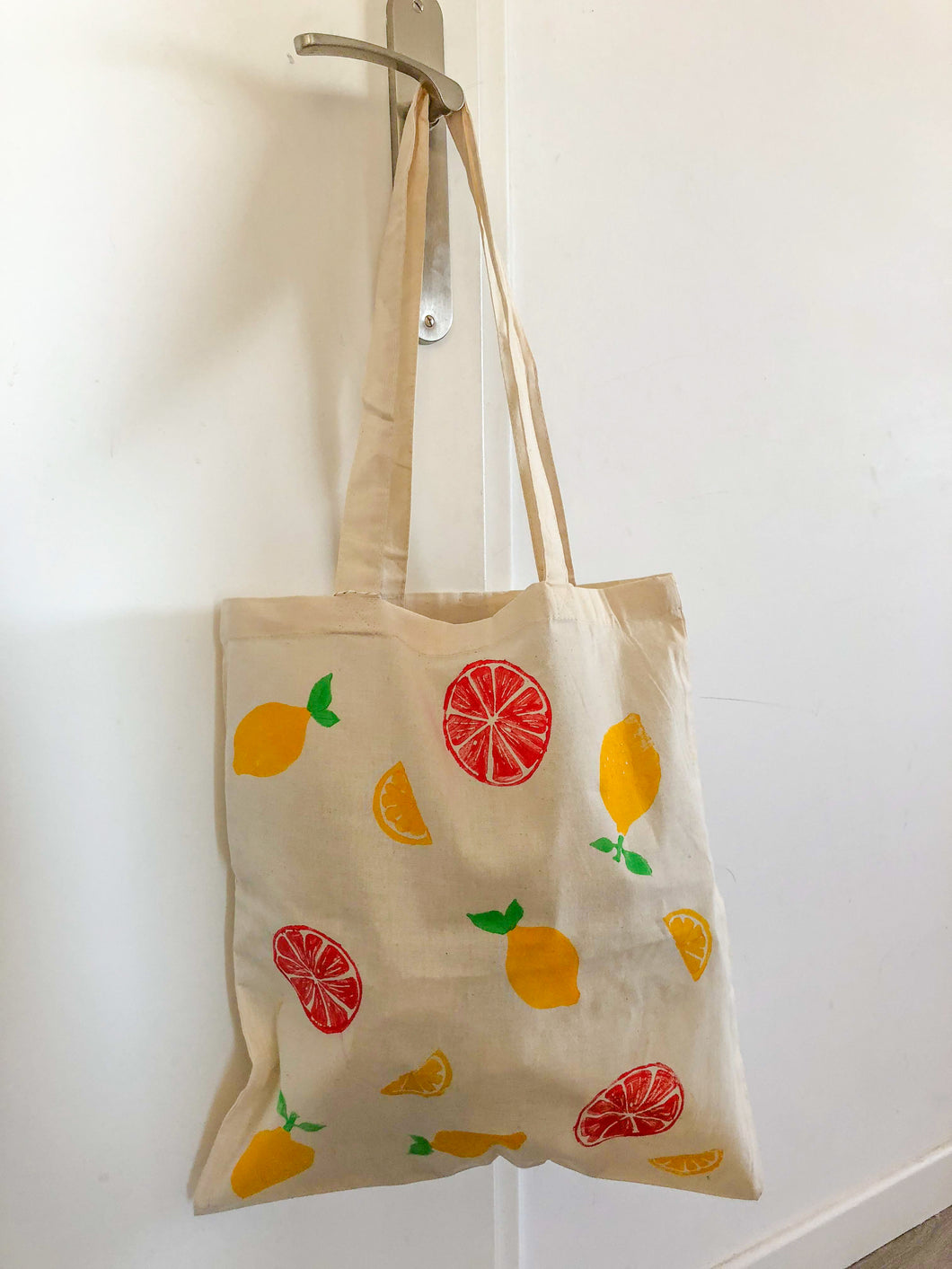 Tote bag citrons et oranges - Kraftille