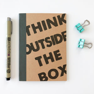Carnet A6 - Think outside the box - Kraftille